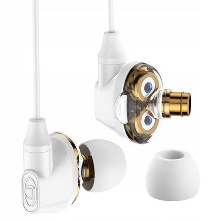 Encok H10 sluchátka s dvojitou pohyblivou cívkou bílá (NGH10-02)