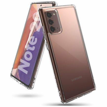 Fusion pouzdro s gelovým rámem Samsung Galaxy Note 20 průsvitné (FSSG0080)