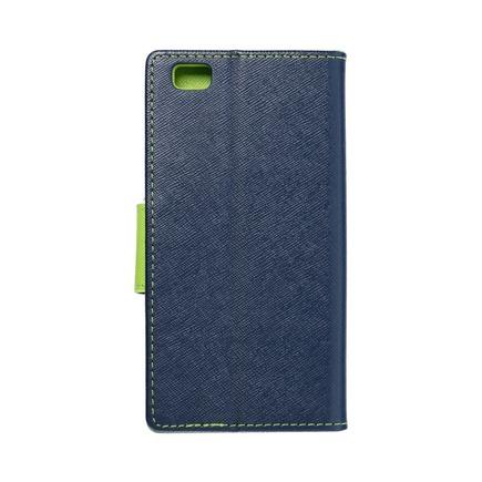 Pouzdro Fancy Book Huawei P8 Lite tmavě modré/limetkové