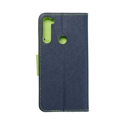 Pouzdro Fancy Book Xiaomi Note 8 tmavě modré/limetkové