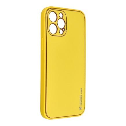 Pouzdro Forcell Leather Case kožené iPhone 13 Mini žluté