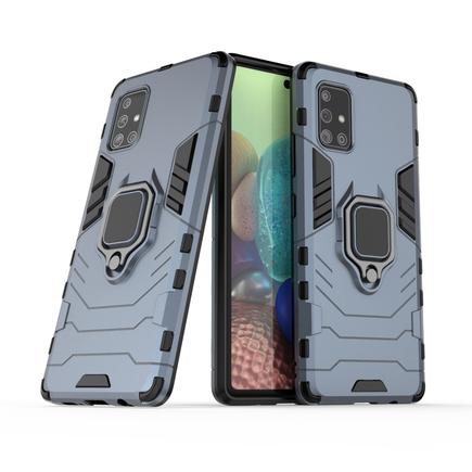 Ring Armor pancéřové hybridní pouzdro + magnetický úchyt Samsung Galaxy A71 5G modré