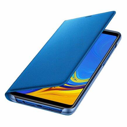 Samsung Wallet Cover pouzdro bookcase s kapsičkou pro kartu Samsung Galaxy A9 2018 modré (EF-WA920PLEGWW)