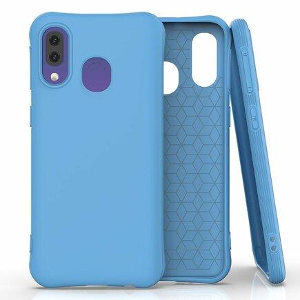 Soft Color Case elastické gelové pouzdro Samsung Galaxy A40 modré