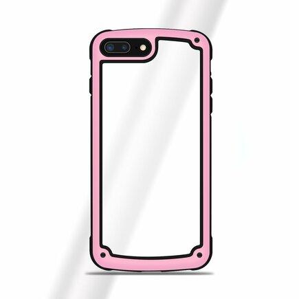 Solid Frame odolné pouzdro s gelovým rámem iPhone 8 Plus / 7 Plus růžové