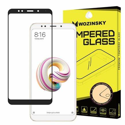 Super odolné tvrzené sklo Full Glue přes celý displej s rámem Case Friendly Xiaomi Redmi 5 černé