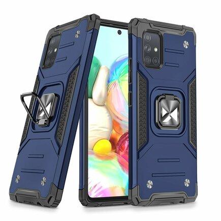 Wozinsky Ring Armor pancéřové hybridní pouzdro + magnetický úchyt Samsung Galaxy A71 5G modré