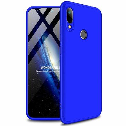 360 Protection Case pouzdro na přední i zadní část telefonu Huawei Y6 2019 modré