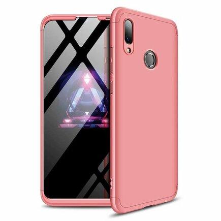 360 Protection Case pouzdro na přední i zadní část telefonu Huawei Y7 2019 / Y7 Prime 2019 růžové