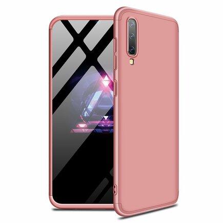 360 Protection Case pouzdro na přední i zadní část telefonu Samsung Galaxy A70 růžové
