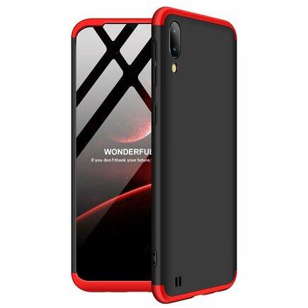 360 Protection Case pouzdro na přední i zadní část telefonu Samsung Galaxy M10 černo-červené