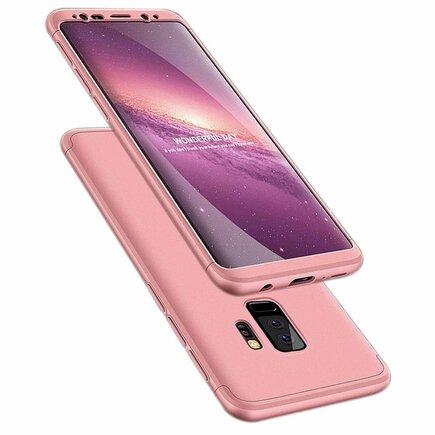 360 Protection Case pouzdro na přední i zadní část telefonu Samsung Galaxy S9 Plus G965 růžové
