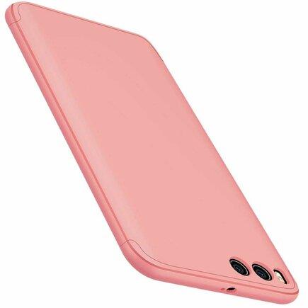 360 Protection Case pouzdro na přední i zadní část telefonu Xiaomi Mi 6 růžové