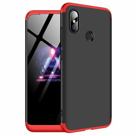 360 Protection Case pouzdro na přední i zadní část telefonu Xiaomi Mi 8 SE černo/červené