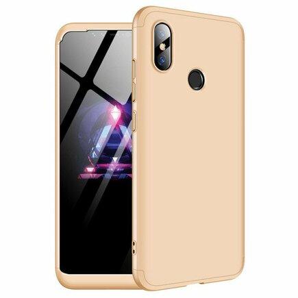 360 Protection Case pouzdro na přední i zadní část telefonu Xiaomi Mi 8 zlaté