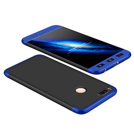 360 Protection Case pouzdro na přední i zadní část telefonu Xiaomi Mi A1 / Mi 5X černo/modré