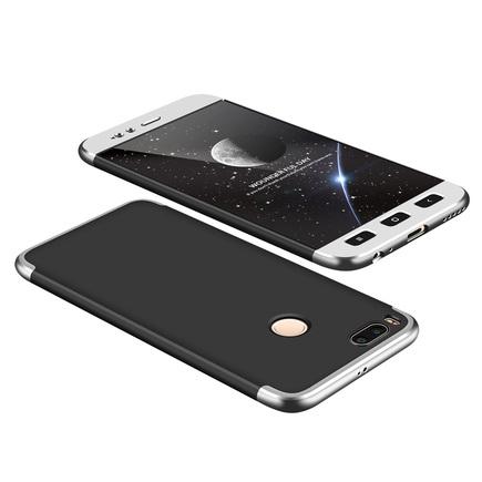 360 Protection Case pouzdro na přední i zadní část telefonu Xiaomi Mi A1 / Mi 5X černo/stříbrné