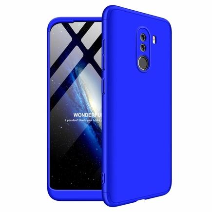 360 Protection Case pouzdro na přední i zadní část telefonu Xiaomi Pocophone F1 modré