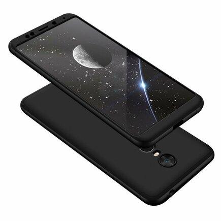 360 Protection Case pouzdro na přední i zadní část telefonu Xiaomi Redmi 5 Plus / Redmi Note 5 (single camera) černé