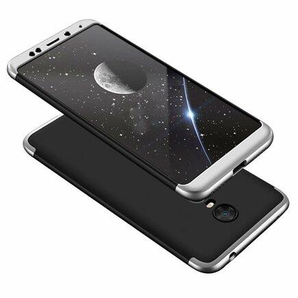 360 Protection Case pouzdro na přední i zadní část telefonu Xiaomi Redmi 5 Plus / Redmi Note 5 (single camera) černo/stříbrné