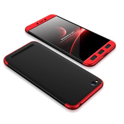 360 Protection Case pouzdro na přední i zadní část telefonu Xiaomi Redmi 5A černo/červené