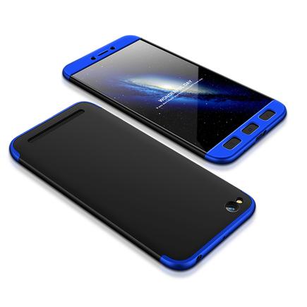 360 Protection Case pouzdro na přední i zadní část telefonu Xiaomi Redmi 5A černo/modré