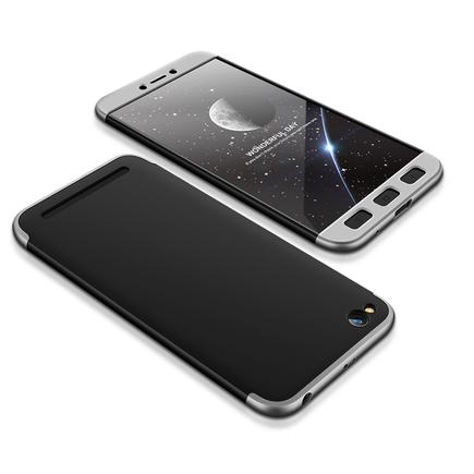 360 Protection Case pouzdro na přední i zadní část telefonu Xiaomi Redmi 5A černo/stříbrné