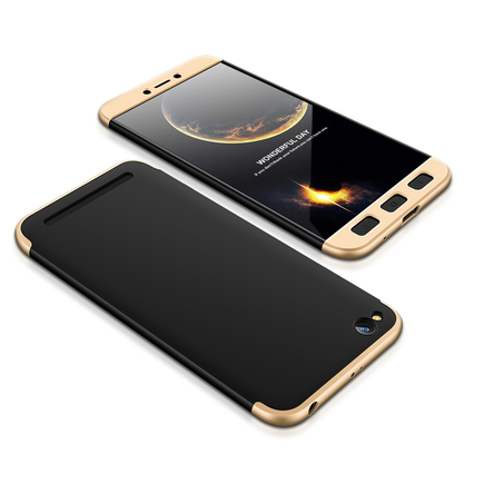 360 Protection Case pouzdro na přední i zadní část telefonu Xiaomi Redmi 5A černo/zlaté