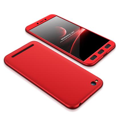 360 Protection Case pouzdro na přední i zadní část telefonu Xiaomi Redmi 5A červené