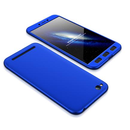 360 Protection Case pouzdro na přední i zadní část telefonu Xiaomi Redmi 5A modré