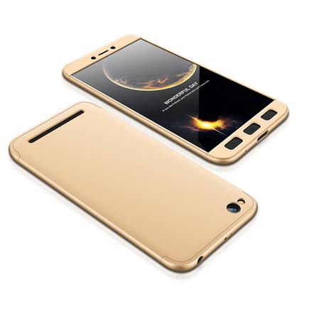 360 Protection Case pouzdro na přední i zadní část telefonu Xiaomi Redmi 5A zlaté