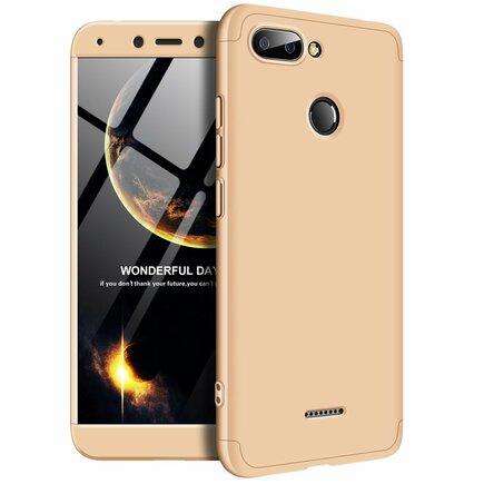 360 Protection Case pouzdro na přední i zadní část telefonu Xiaomi Redmi 6 zlaté