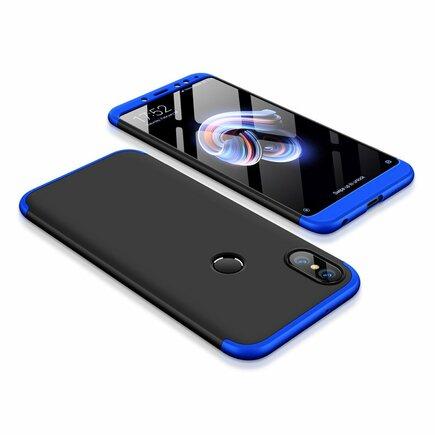360 Protection Case pouzdro na přední i zadní část telefonu Xiaomi Redmi Note 5 (dual camera) / Redmi Note 5 Pro černo/modré