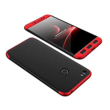360 Protection Case pouzdro na přední i zadní část telefonu Xiaomi Redmi Note 5A Prime černo/červené