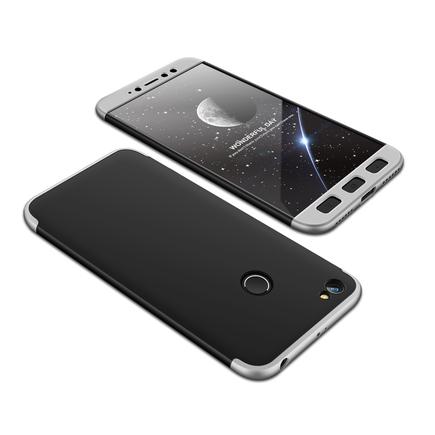 360 Protection Case pouzdro na přední i zadní část telefonu Xiaomi Redmi Note 5A Prime černo/stříbrné