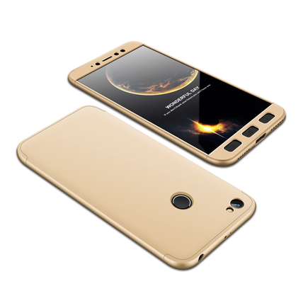 360 Protection Case pouzdro na přední i zadní část telefonu Xiaomi Redmi Note 5A Prime zlaté