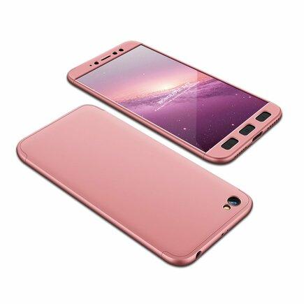 360 Protection Case pouzdro na přední i zadní část telefonu Xiaomi Redmi Note 5A růžové