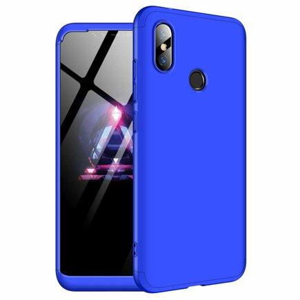 360 Protection Case pouzdro na přední i zadní část telefonu Xiaomi Redmi Note 6 Pro modré