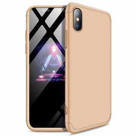 360 Protection Case pouzdro na přední i zadní část telefonu iPhone XS Max zlaté