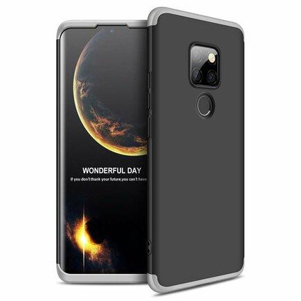 360 Protection pouzdro na přední i zadní část telefonu Huawei Mate 20 černo-stříbrné