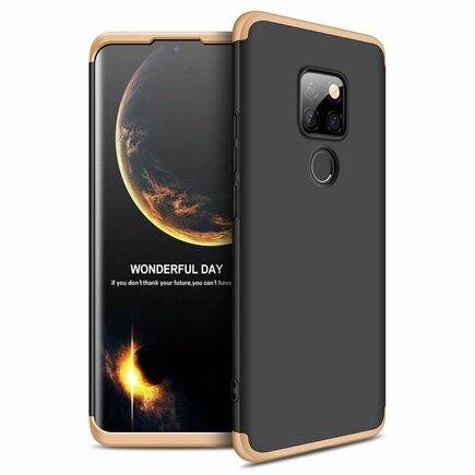 360 Protection pouzdro na přední i zadní část telefonu Huawei Mate 20 černo-zlaté