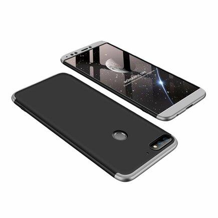 360 Protection pouzdro na přední i zadní část telefonu Huawei Y7 Prime 2018 černo-stříbrné