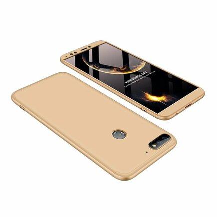 360 Protection pouzdro na přední i zadní část telefonu Huawei Y7 Prime 2018 zlaté