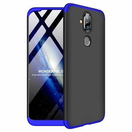 360 Protection pouzdro na přední i zadní část telefonu Nokia 8.1 / Nokia X7 černo-modré