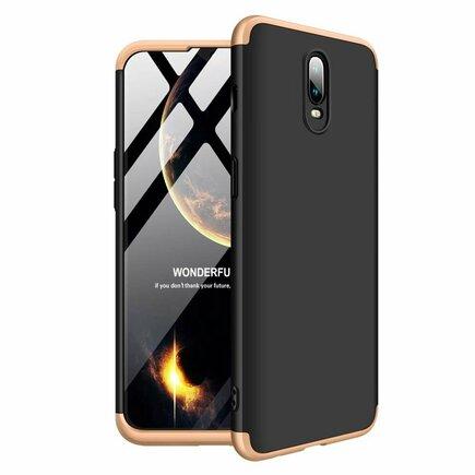 360 Protection pouzdro na přední i zadní část telefonu OnePlus 6T černo-zlaté