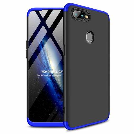 360 Protection pouzdro na přední i zadní část telefonu Oppo AX7 černo-modré