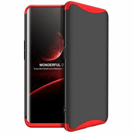 360 Protection pouzdro na přední i zadní část telefonu Oppo Find X černo-červené