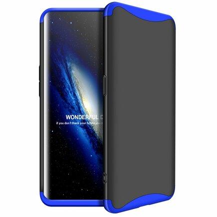 360 Protection pouzdro na přední i zadní část telefonu Oppo Find X černo-modré