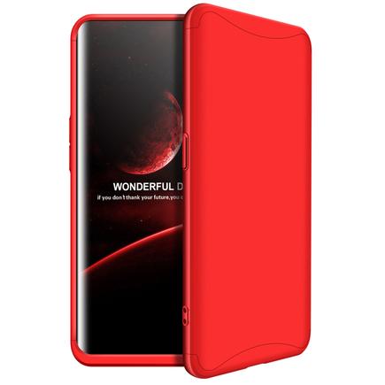 360 Protection pouzdro na přední i zadní část telefonu Oppo Find X červené