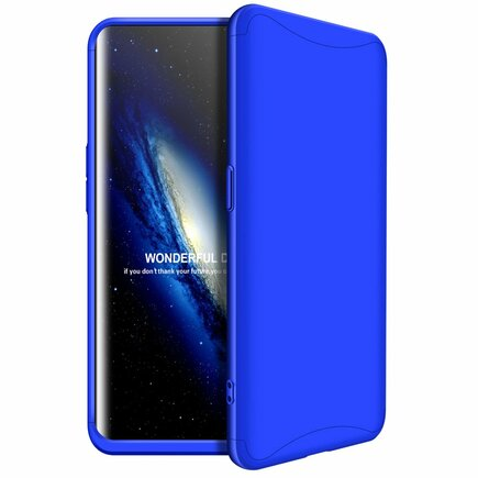 360 Protection pouzdro na přední i zadní část telefonu Oppo Find X modré